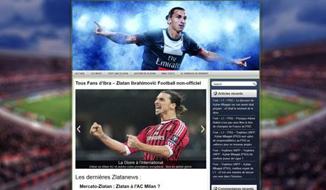 Site internet sur Zlatan Ibrahimovic